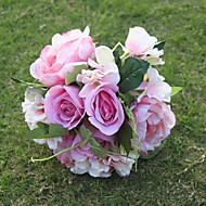 1 Gren Silke Roser Hortensiaer Peoner Bordblomst Kunstige blomster 24CM