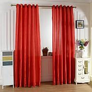 billige Gardiner ogdraperinger-Et panel Window Treatment Land, Trykk Stue Polyester Materiale gardiner gardiner Hjem Dekor