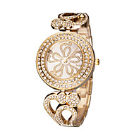 billige Ring Ur-Dame Armbåndsur Japansk Hul Indgravering / Imiteret Diamant Rustfrit stål Bånd Elegant / Mode Sølv / Guld / Rose Guld