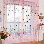 Love Balloon One Panel Rod pocket Multicolour Polyester Sheer Curtains Shades