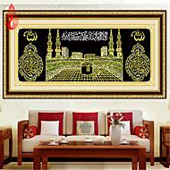 поделок 5d алмазов вышивки Исламе Мусульманский Священную Каабу мечеть круглый картины вышивки крестом наборы мозаики украшения дома