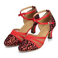 billige Moderne sko-Dame Moderne sko Glimtende Glitter / Kunstlær Sandaler / Høye hæler Gummi / Spenne Kustomisert hæl Kan spesialtilpasses Dansesko Rød / Sølv / Gull / Innendørs