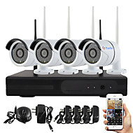 cheap NVR Kits-YanSe® Plug and Play Wireless NVR Kit P2P 960P HD Outdoor/Indoor IR Night Vision Security IP Camera WIFI CCTV System