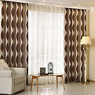 To paneler Window Treatment Moderne , Stribe Barnerom Polyester Materiale Blackout Gardiner Hjem Dekor For Vindu