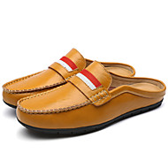 Men's Shoes Leather Spring Summer Fall Comfort Clogs & Mules Braided Strap For Casual Outdoor Office & Career White Black Brown Blue