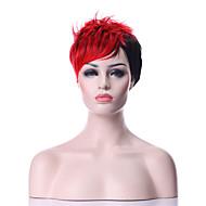 Ženy Červená Kudrnaté Umělé vlasy Bez krytky černá paruka Paruka Halloween Karnevalová paruka paruky