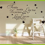 Cheap Wall Stickers Twinkle Little Star Wall Sticker Home Decoration Diy  Kids Home Removable Wall