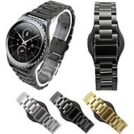 billiga Smart klocka Tillbehör-Klockarmband för Gear S2 Classic Samsung Galaxy Klassiskt spänne Rostfritt stål Handledsrem
