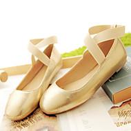baratos Sapatilhas Femininas-Mulheres Sapatos Courino Primavera Verão Sem Salto para Casual Preto Prata Rosa claro Dourado