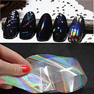 -Parmak / Ayak Parmağı-Diğer Dekorasyonlar-PVC-6pcs nail art foils-Adet4cmX100cm each piece- cm