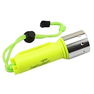 cheap -LS1779 Diving Flashlights / Torch LED 2000lm 1 Mode with Battery and Charger Impact Resistant / Waterproof / High Power Camping / Hiking