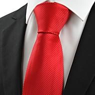 Krawat-Prążki(Czerwony,Poliester)