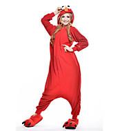 Χαμηλού Κόστους New Cosplay®-Ενηλίκων Πιτζάμα Kigurumi Monster / Cookie Anime Πιτζάμα Onesie Στολές Πολική Προβιά Κόκκινο Cosplay Για ζώο Πυτζάμες Κινούμενα σχέδια Απόκριες Γιορτές / Διακοπές / Χριστούγεννα