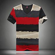 Herre - Stribet Farveblok Sport Arbejde Plusstørrelser T-shirt