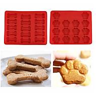 tanie Formy do ciast-Narzędzia do pieczenia Silikonowy Ekologiczne / DIY Ciasteczka / Czekoladowy / Lód Forma do pieczenia 2pcs