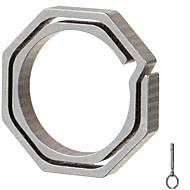 저렴한 -의 Fura 각형 티타늄 합금 열쇠 고리 - 샴페인 + 회색 (작은 크기)