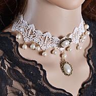 Dame Coliere Choker Torțe Bijuterii Gothic tatuaj cravată Dantelă Material Textil Stil Tatuaj Bijuterii Pentru Nuntă Petrecere Zilnic