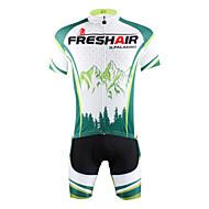 ILPALADINO Homens Manga Curta Camisa com Shorts para Ciclismo - Verde Moto Shorts Camisa/Roupas Para Esporte Conjuntos de Roupas, Secagem