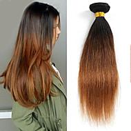 人毛 ブラジリアンヘア 人間の髪編む ストレート ヘアエクステンション 1個 #P1B 30
