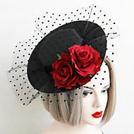 hesapli Eski Okul-dantel kumaş şapkalar headpiece düğün partisi zarif kadınsı stil