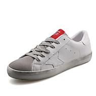 baratos Sapatos Masculinos-Homens Couro Ecológico Primavera / Outono Rasos Antiderrapante Vermelho / Verde / Branco / Preto