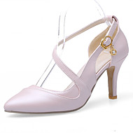 tanie Small Size Shoes-Damskie Dla dziewczynek Obuwie Derma Wiosna Lato Szpilka Stras Koraliki Ćwiek Frędzel na Casual Biuro i kariera Formalne spotkania White