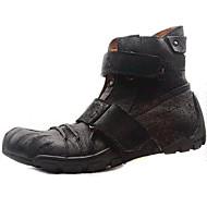Szabadidős / Irodai / Ruha / Alkalmi / Party és Estélyi / Munka & szolgálat Férfi cipő Nappa Leather Csizmák Fekete