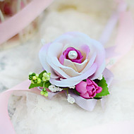 "cheap Flowers-Wedding Flowers Wrist Corsages Unique Wedding Décor Special Occasion Party / Evening Silk Cotton 1.18""(Approx.3cm)"