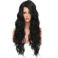Ljudska kosa Čipka vlasulja Valovita kosa Full Lace Perika pune čipke bez ljepila 100% rađeno rukom Afro-američka perika Prirodna linija