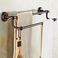 levne Ti-PVD Series-Tyč na ručníky Neoklasika Mosaz 1 ks - Hotelová koupel 2-tower bar