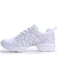 baratos Sapatilhas de Dança-Mulheres Tênis de Dança Sintético Têni Cadarço Salto Baixo Não Personalizável Sapatos de Dança Preto / Branco / Fúcsia