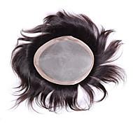 "Mens Toupee 6""x8"" Human Hair Toppers Hair Men's Hair Systems Pieces Mono Base Toupee"