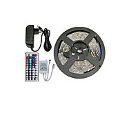 billiga Belysning-5m RGB-ljusslingor Ljusuppsättningar Flexibla LED-ljusslingor lysdioder RGB Fjärrkontroll Klippbar Bimbar Färgskiftande Självhäftande