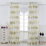 cheap Curtains & Drapes-Rod Pocket Grommet Top Tab Top Double Pleat Two Panels Curtain Country, Hollow Out Living Room Rayon Material Curtains Drapes Home