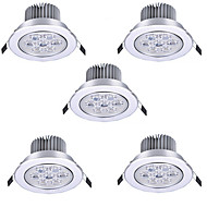 cheap LED Recessed Lights-HRY 5pcs 7W 600 lm None LED Recessed Lights Recessed Retrofit 7 leds High Power LED Warm White Cold White 85-265V