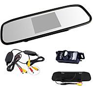 """4.3 """"HD TFT LCD-achteruitkijkspiegel-monitor + auto achteruit nachtzicht wireles camera"""