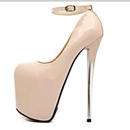 baratos Sapatos Femininos-Mulheres Sapatos Courino Primavera / Outono Salto Agulha Preto / Amêndoa / Festas & Noite / Festas & Noite