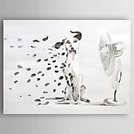 baratos Pinturas a Óleo-Pintura a Óleo Pintados à mão - Animais Modern Tela de pintura