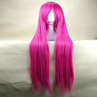 Top Quality Pink Cosplay Wigs  Woman's Wig Super Long Straight Animated Synthetic Hair Wig  Party Wig