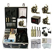cheap Discount Tattoo Kits-Tattoo Machine Professional Tattoo Kit 3 alloy machine liner & shader High Quality Analog power supply 2 x stainless steel grip 2 x