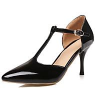 tanie Small Size Shoes-Damskie Skóra patentowa / Derma Wiosna / Lato Pasek T / D'Orsay i dwuczęściowe Szpilka Czerwony / Różowy / Złota / Impreza / bankiet / Sukienka / Impreza / bankiet