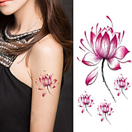 halloween nők lótuszvirág tetoválás ideiglenes tetoválás matrica ideiglenes body art vízálló tetoválás