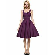 Žene Veći konfekcijski brojevi Vintage A kroj Haljina Jednobojni S naramenicama Do koljena