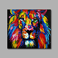 Pintura a Óleo Pintados à mão - Arte Pop Modern Incluir moldura interna / Lona esticada