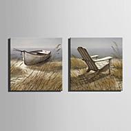 billiga Oljemålningar-Hang målad oljemålning HANDMÅLAD - Landskap Europeisk Stil Duk