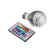 billige Globepærer med LED-3W 300 lm E26/E27 LED-globepærer leds Integrert LED Fjernstyrt RGB AC 85-265V