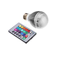 3W E26/E27 LED-globepærer leds Integrert LED 500lm RGB Fjernstyrt AC 85-265