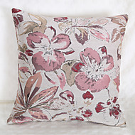 cheap Throw Pillows-Waterpainting Jacquard Cushion Cover -Pink