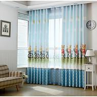 To paneler Window Treatment Rustikk Moderne Neoklassisk Middelhavet Europeisk , Dyr Barnerom Polyester Materiale gardiner gardinerHjem
