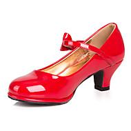 baratos Sapatos de Menina-Para Meninas Sapatos Courino Primavera / Verão Saltos Presilha para Vermelho / Rosa / Prateado